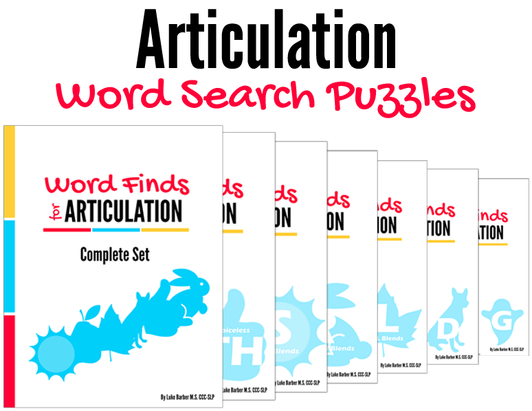 Word Finds for Articulation Book Cover